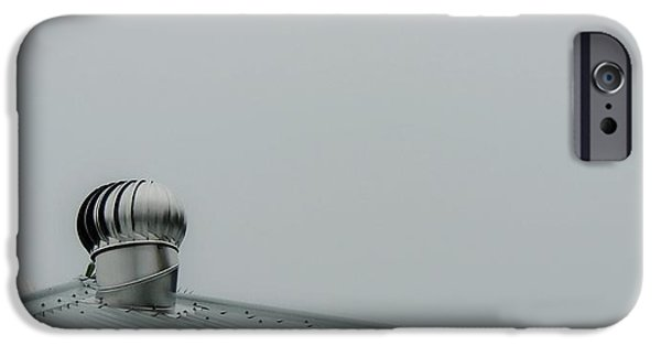 Rainy Day iPhone Cases - Silver Grey Morning iPhone Case by Denise Clark