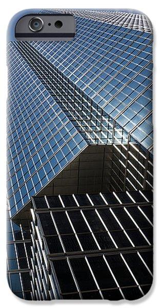 Silver Lines to the Sky - Downtown Toronto Skyscraper iPhone Case by Georgia Mizuleva