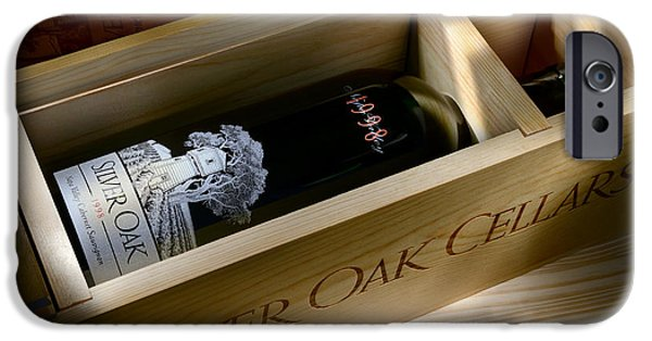 Wine Bottles Photographs iPhone Cases - Silver Oak  iPhone Case by Jon Neidert