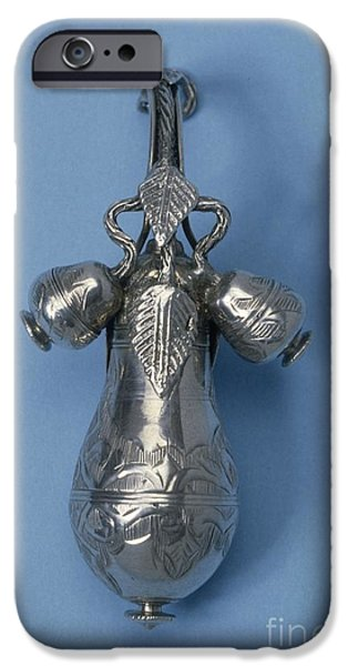 Nineteenth iPhone Cases - Silver Pomander, Late 19th Century iPhone Case by Science Photo Library