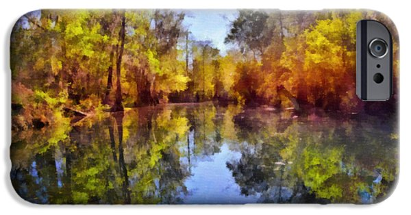 Interior Scene iPhone Cases - Silver River Colors iPhone Case by Christine Till