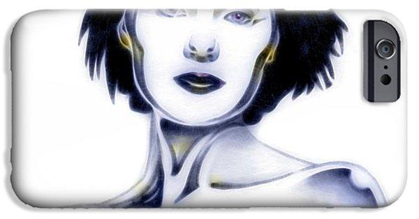 Silver Siren iPhone Case by Wu Wei