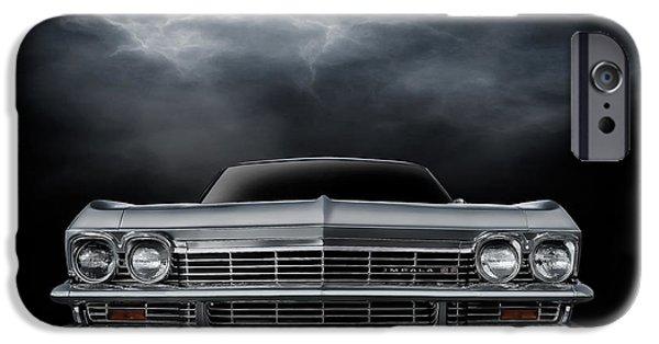 Lightning Digital Art iPhone Cases - Silver Sixty Five iPhone Case by Douglas Pittman