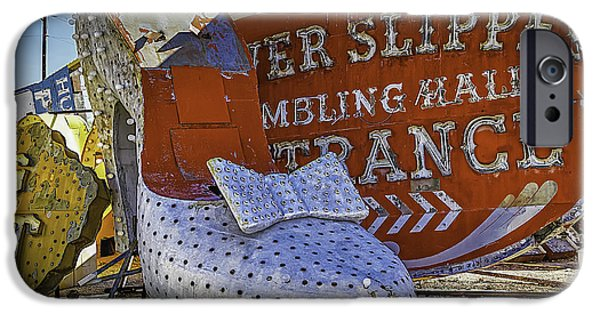 Junk Yard iPhone Cases - Silver Slipper iPhone Case by Garry Gay