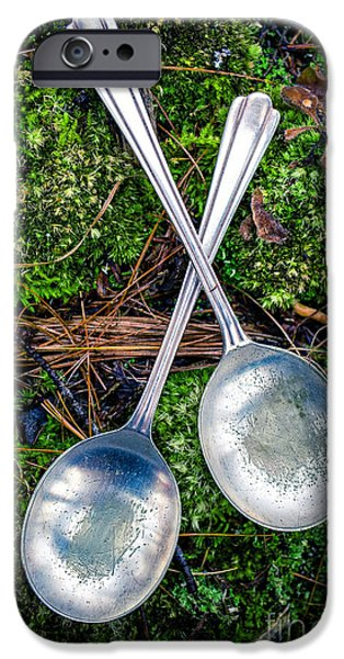 Tea Party Photographs iPhone Cases - Silver Spoons  iPhone Case by Edward Fielding