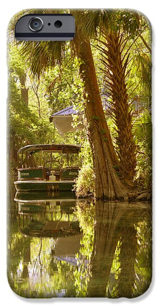 Silver Springs Glass Bottom Boats iPhone Case by Christine Till