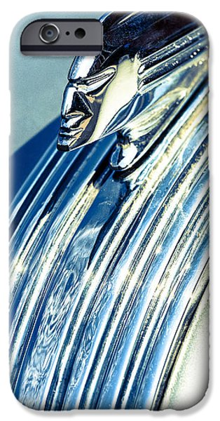 Silver Turquoise iPhone Cases - Profile in Chrome II iPhone Case by Caitlyn  Grasso
