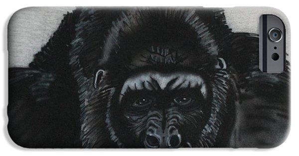 Airbrush iPhone Cases - Silverback  iPhone Case by Bob Williams