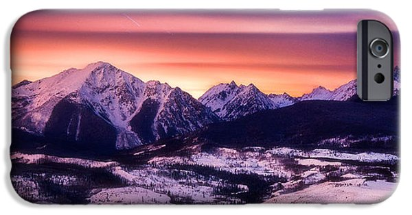 Colorado Framed Prints iPhone Cases - Silverthorne Nights iPhone Case by Darren  White