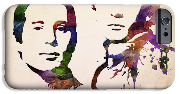 Sound Mixed Media iPhone Cases - Simon And Garfunkel iPhone Case by Aged Pixel