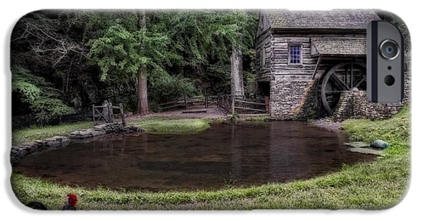 Old Mill Scenes Photographs iPhone Cases - Simple Country Life iPhone Case by Susan Candelario