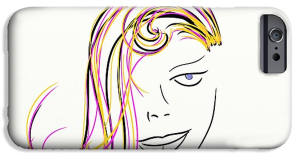 Young Paintings iPhone Cases - Simple Lines iPhone Case by Sotiris Filippou