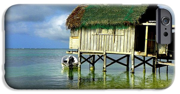 Fishing Shack iPhone Cases - Simple Solitude iPhone Case by Karen Wiles