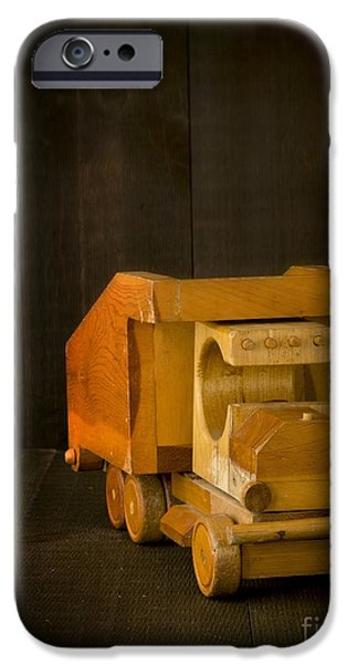 Dump iPhone Cases - Simpler Times - Old Wooden Toy Truck iPhone Case by Edward Fielding