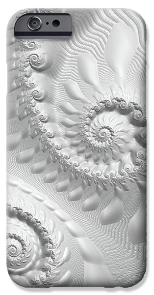 Fractal Photographs iPhone Cases - Simplicity  iPhone Case by Heidi Smith