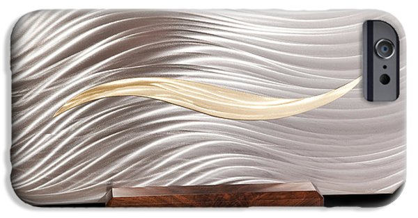 Stainless Steel Sculptures iPhone Cases - Simplicity iPhone Case by Rick Roth