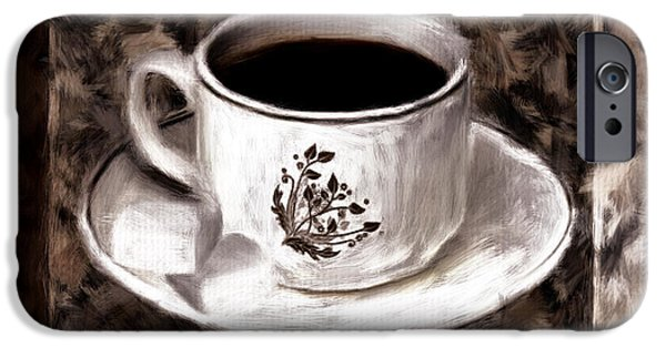 Cafe Au Lait iPhone Cases - Simply Aromatic iPhone Case by Lourry Legarde
