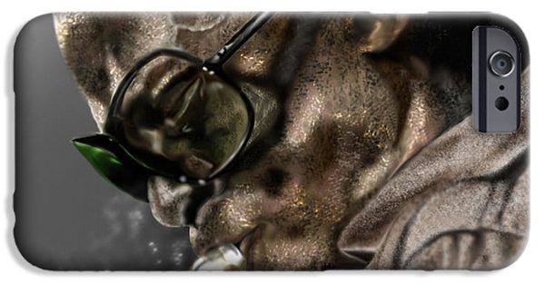 Miles-davis iPhone Cases - Simply Miles iPhone Case by Reggie Duffie