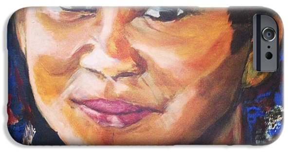Baba Paintings iPhone Cases - Simply Moi iPhone Case by Belinda Low