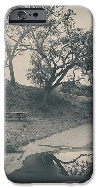 Park Benches iPhone Cases - Simply Pretend iPhone Case by Laurie Search