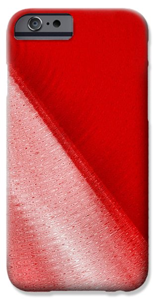 Shade Cover iPhone Cases - Simply Red iPhone Case by Tom Druin