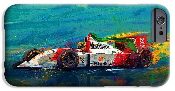 Racing Mixed Media iPhone Cases - Simply The Best iPhone Case by Alan Greene