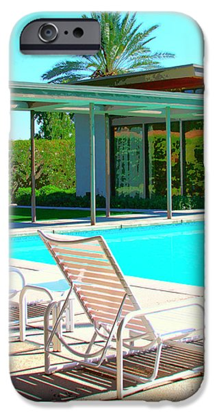 SINATRA POOL Palm Springs iPhone Case by William Dey
