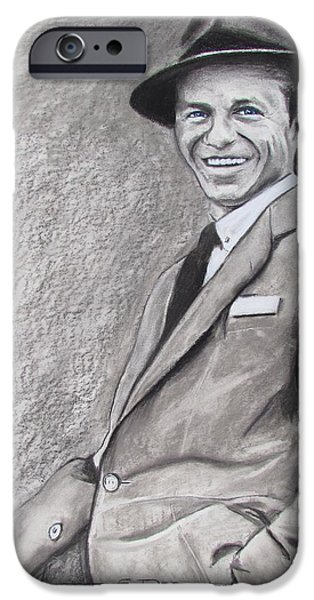 Old Blue Eyes iPhone Cases - Sinatra - The Voice iPhone Case by Eric Dee