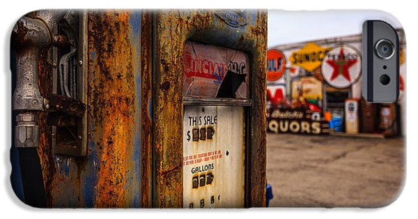 Indiana Landscapes iPhone Cases - Sinclair Gas Pump iPhone Case by Keith Allen
