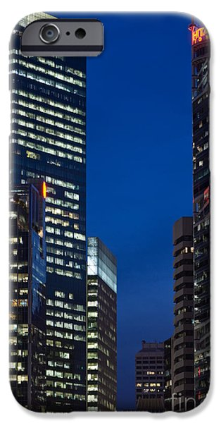 Business iPhone Cases - Singapore City At Night iPhone Case by Rick Piper Photography