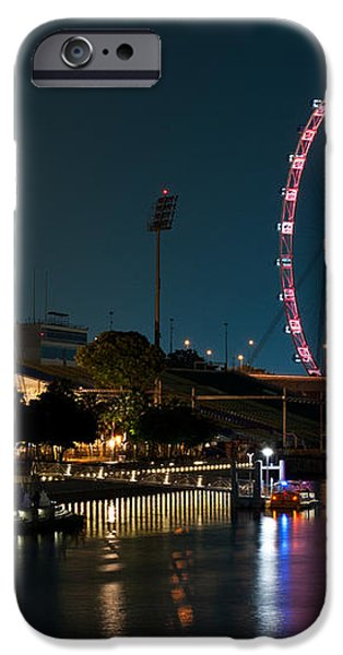Singapore Flyer At Night iPhone Case by Rick Piper Photography
