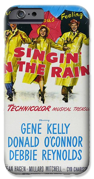 1950s Movies iPhone Cases - Singin in the Rain iPhone Case by Nomad Art And  Design