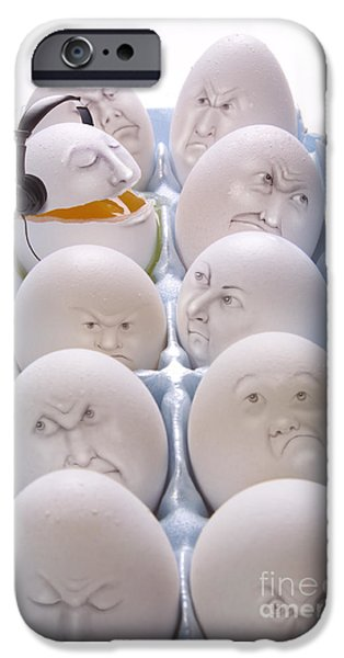 Eggs iPhone Cases - Singing Egg iPhone Case by Diane Diederich