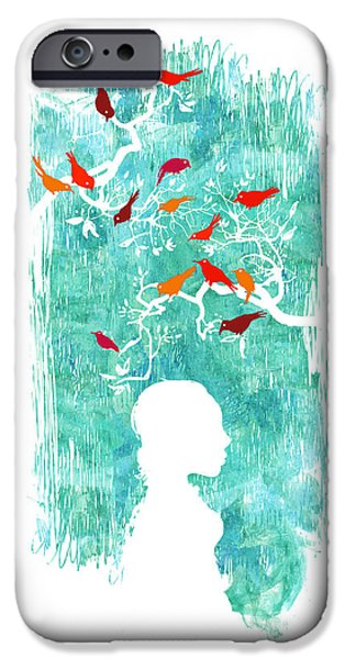 Raining iPhone Cases - Singing in the rain iPhone Case by Budi Satria Kwan
