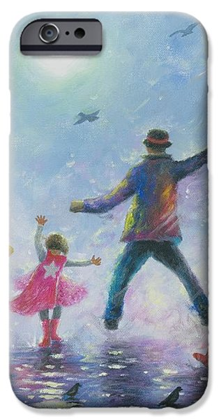 Singing in the Rain Super Hero Kids iPhone Case by Vickie Wade