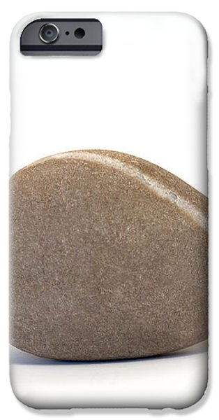 Single Pebble against White Background iPhone Case by Natalie Kinnear
