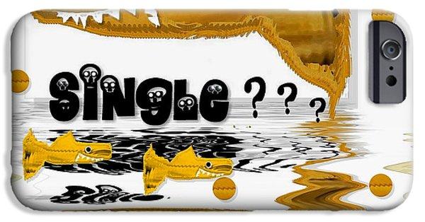 Shark iPhone Cases - Single Shark Pop Art iPhone Case by Pepita Selles