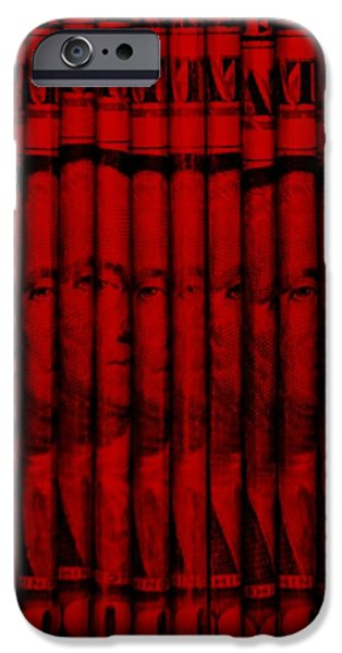 President iPhone Cases - SINGLES in RED iPhone Case by Rob Hans
