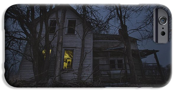 Abandoned House iPhone Cases - Sinister iPhone Case by Aaron J Groen