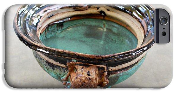 Glaze Ceramics iPhone Cases - Sink Series 0026 iPhone Case by Richard Sean Manning