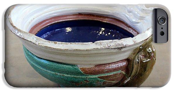 Glaze Ceramics iPhone Cases - Sink Series 0027 iPhone Case by Richard Sean Manning