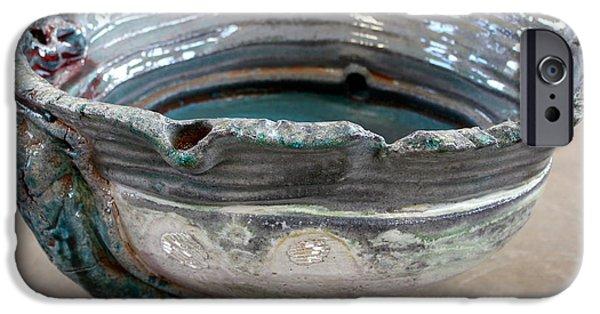 Glaze Ceramics iPhone Cases - Sink Series 0029 iPhone Case by Richard Sean Manning