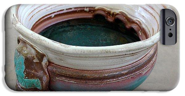 Glaze Ceramics iPhone Cases - Sink Series 0031 iPhone Case by Richard Sean Manning