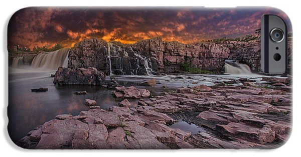 Sunset iPhone Cases - Sioux Falls iPhone Case by Aaron J Groen