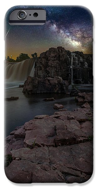 Fall iPhone Cases - Sioux Falls Dreamscape iPhone Case by Aaron J Groen