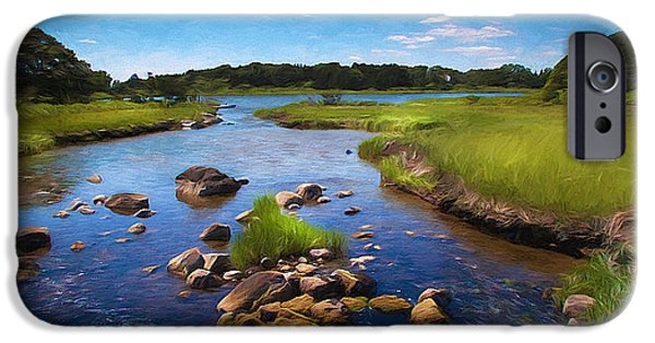 Cape Cod Mixed Media iPhone Cases - Sippewissett  Marsh iPhone Case by Michael Petrizzo