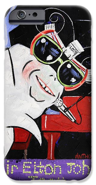 Elton John iPhone Cases - Sir Elton John Tooth  iPhone Case by Anthony Falbo