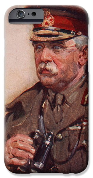 Wwi Drawings iPhone Cases - Sir John French iPhone Case by Cyrus Cuneo