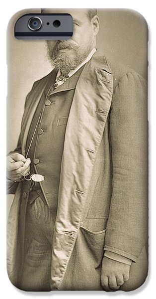 Celebrities Photographs iPhone Cases - Sir Lawrence Alma-Tadema iPhone Case by Stanislaus Walery