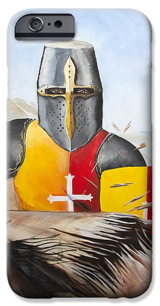 Knights Beach iPhone Cases - Sir Xavier at Full Tilt iPhone Case by Louis Monnich